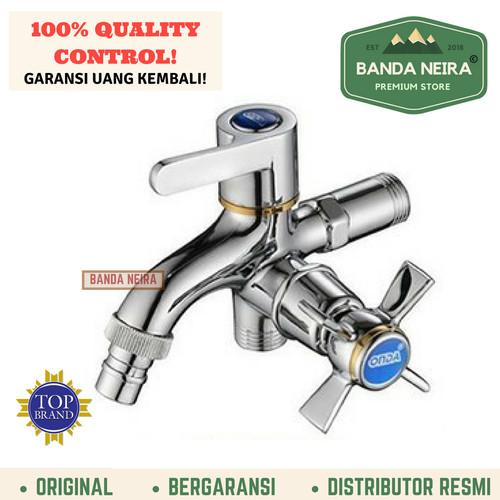 "Foto Produk Keran Mixer Stop Kran Cabang Kamar Mandi Toilet ONDA K 410 GKU 1/2"" - Perak dari Banda Neira Store"