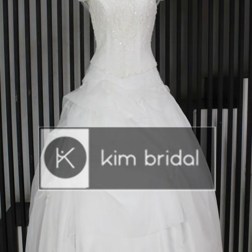 Jual Gaun Pengantin Wedding Gown Wedding Dress Warna Off White Kota Bandung Kim Bridal Tokopedia