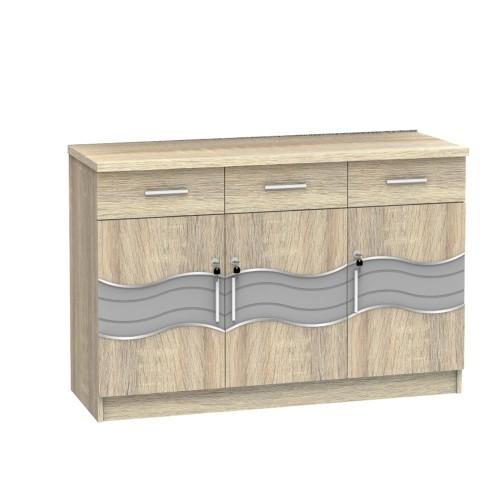 Foto Produk SUPER Kitchen Set Bagian Bawah Tiga Pintu Sonoma Oak KSB 931 dari Super Furniture Online