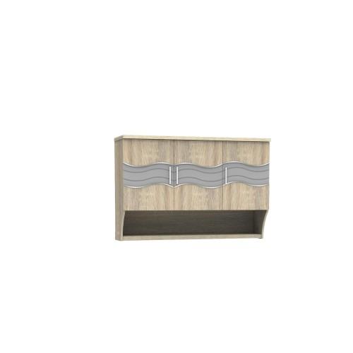 Foto Produk SUPER Kitchen Set Bagian Atas Tiga Pintu Sonoma Oak KSA 931 dari Super Furniture Online