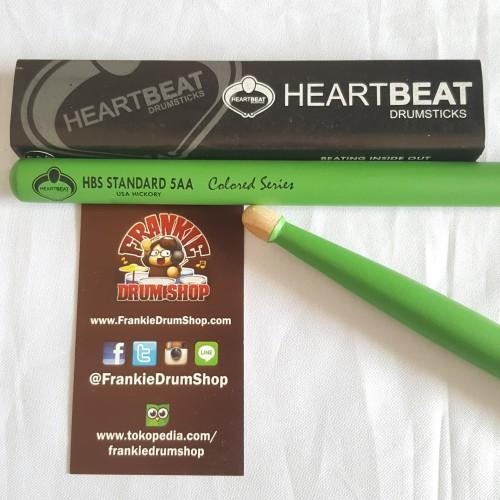Foto Produk HeartBeat HBS5AAHACG - 5AA Green HBS Acorn Tip Hickory Stick Drum dari FrankieDrumShop
