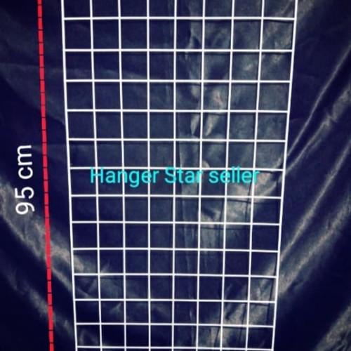 Foto Produk Ram Jaring dinding 45cm x 95 cm Gantungan kawat hook dari Hanger star seller