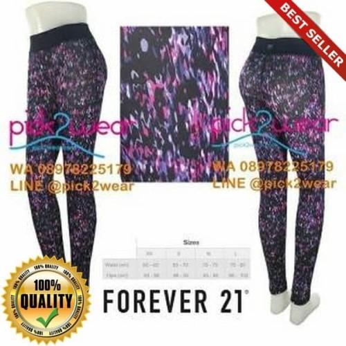 Foto Produk O-Outdoor Forever 21 legging yoga gym zumba purple printed dari Olahraga & Outdoor