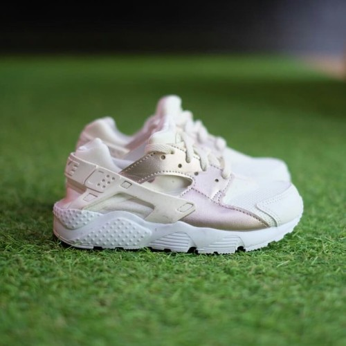 Sepatu Nike Air Huarache Kids Anak Original White Rose Gold