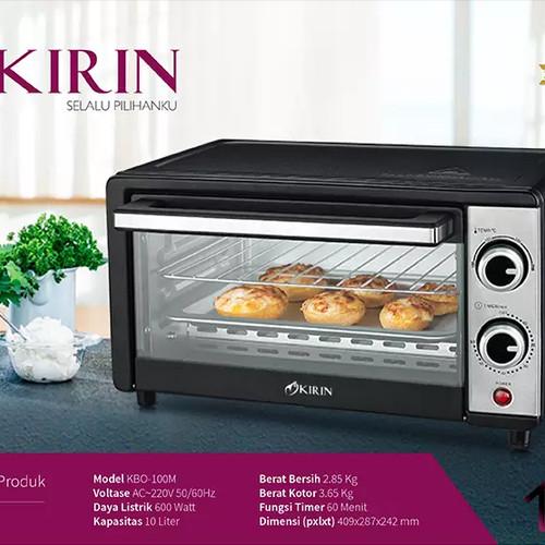 Foto Produk KIRIN Oven Listrik KBO 100 M - KBO100M KBO-100M Garansi Resmi dari amac store