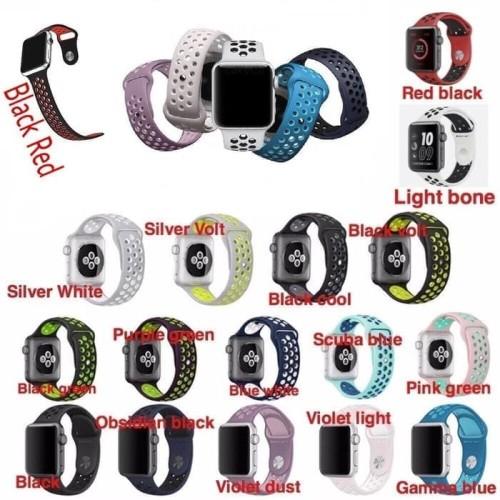 Foto Produk Apple Watch IWatch 42mm Nike Sport Strap Sand Pink White Violet Light dari maju laku