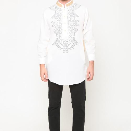 Foto Produk Baju koko kurta / atasan pakistan kemeja koko ardhani - jfashion Padli - Putih, XXXL dari j--fashion