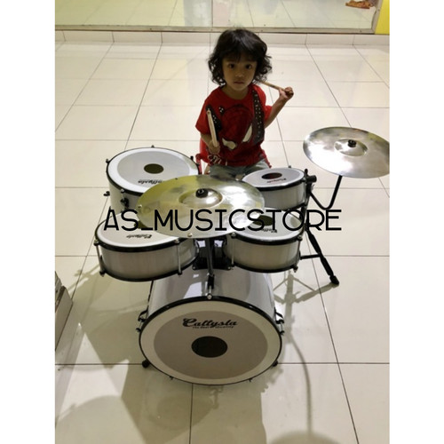Foto Produk Drum Mini Anak Full Set Free Stick Drum / Drum Anak dari sarabeautycare and music