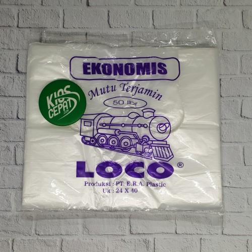 Foto Produk KANTONG PLASTIK HD LOCO EKONOMIS NATURAL UK 24 dari KiosCepat