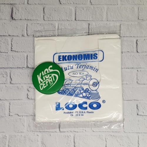 Foto Produk KANTONG PLASTIK HD LOCO EKONOMIS PUTIH UK 15 dari KiosCepat