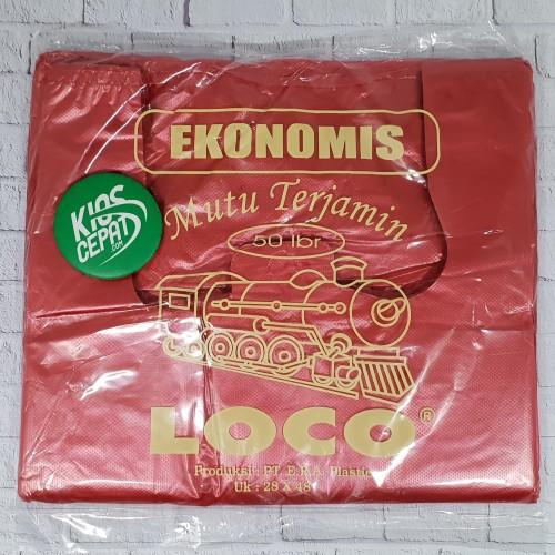 Foto Produk KANTONG PLASTIK HD LOCO EKONOMIS MERAH UK 28 dari KiosCepat