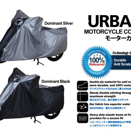 Foto Produk Sarung Cover Motor Urban Big Jumbo Size Anti Air & UV Ninja NMax CBR - SilverListHitam dari lbagstore