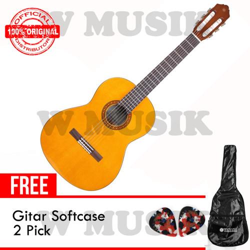 Foto Produk Yamaha Gitar Klasik CS 40 / CS40 - Natural + Softcase & 2 Pick dari W Musik