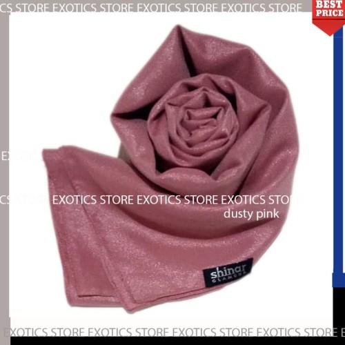 Foto Produk Jilbab Segiempat Shinar Glamour Katun Shimmer Ansania Square DUSTYPINK dari exotics-store