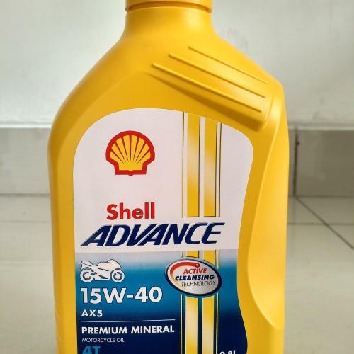 Foto Produk Oli Mesin Motor Shell Advance AX 5 0.8 L oil lubricant lubricants AX5 dari eagles