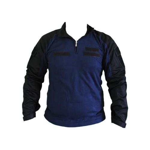 Foto Produk baju kaos kemeja tactical combat shirt warna biru navy - Biru, XXL dari Mardo combat