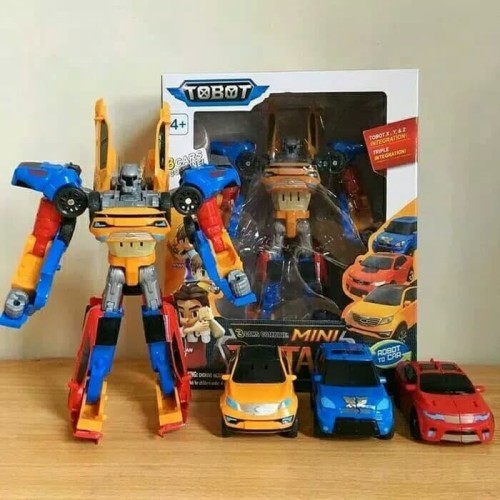Foto Produk Tobot Tritan Combine 3 Car X Y Z - Mainan Robot Titan 3 in 1 Mobil dari Oktaviana AL Shop