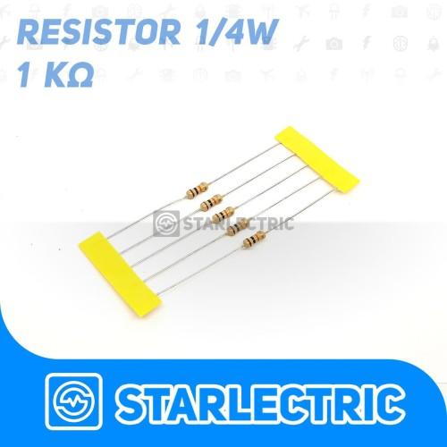 Foto Produk Resistor 1000 1000R 1K Ohm 1/4 W 5% 5pcs/pack dari Starlectric