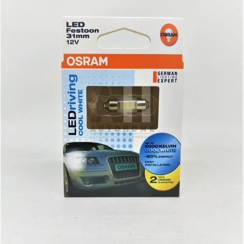 Foto Produk Osram LED Festoon (Ujung Ganda) 31mm Lampu Kabin Plafon Putih dari Auto Home