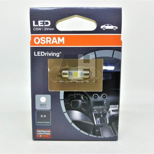 Foto Produk Osram LED Festoon Ujung Ganda 31mm Lampu Kabin Plafon Putih 6431SW dari Auto Home