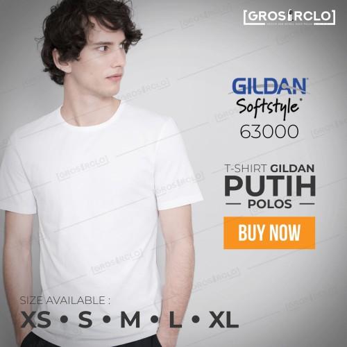 Foto Produk kaos polos gildan softstyle white original murah jakarta dari Grosir clo