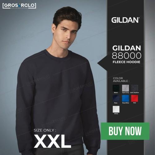 Foto Produk Gildan Sweater Crewneck Heavy Blend 88000 Original Murah 20s XXL dari Grosir clo