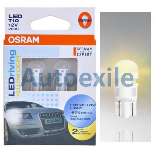 Foto Produk Osram LEDriving Standard T10 W5W 1W Yellow Kuning Lampu Senja LED Awet dari Autoexile