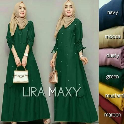 Foto Produk jual baju gamis murah/lira maxi dress muslim modern/grosir baju hijab dari B.O.M baju online murah