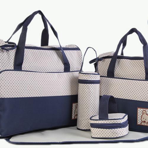Foto Produk 258 Diaper bag Tas Perlengkapan bayi travelling bag 5 IN 1 multifungsi - Biru dari laris_88 computer
