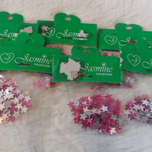 Foto Produk Manik / Monte Tempel Motif Bintang Warna Pink Magenta dari Kyuti