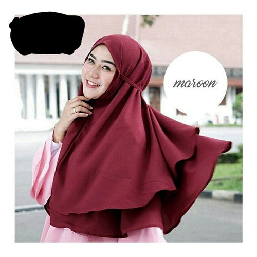 Foto Produk Jilbab instan dua layer diamond/hijab instan dua layer tali dari Ararya-grosir