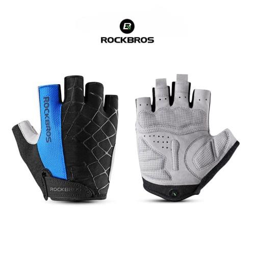Foto Produk ROCKBROS S109 Bike Glove Half Finger - Sarung Tangan Sepeda BLUE - M dari Rockbros Indonesia