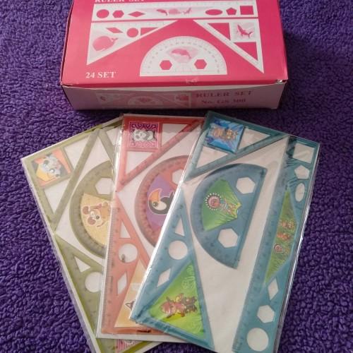Foto Produk penggaris sekolah anak - biola Ruller set - souvenir ultah dari Grosir Murah Mainan