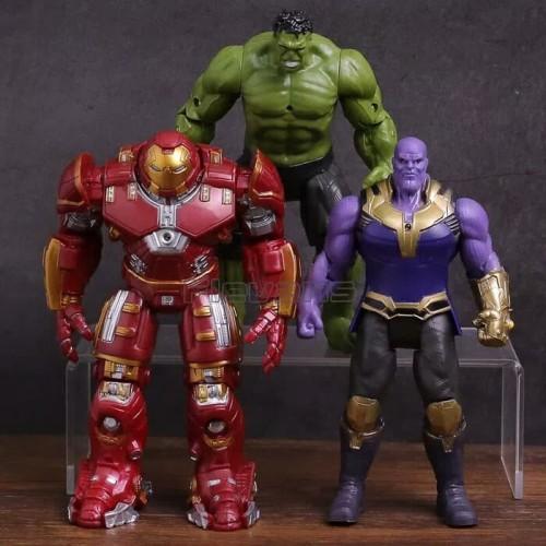 Foto Produk Figure Avengers Infinity War 3 pcs 1 set Hulk Thanos dan Hulkbuster dari R&M Toys