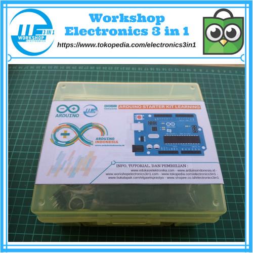 Foto Produk Arduino UNO R3 Starter KIT Versi 5 /Paket Belajar Arduino Untuk Pemula dari Electronics 3 in 1