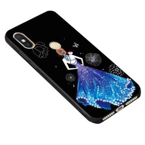 Foto Produk Fashion Gaun Case Redmi S2 Oppo A3 VIVO V9 Y71 Y83 MI 6X A2 5X A1 - Biru dari tokomuda