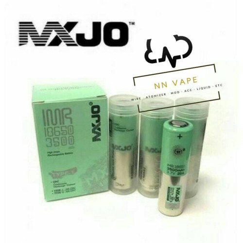 Foto Produk Battery MXJO new 18650 3500 MAH (Green Toscha) Authentic dari NNVape
