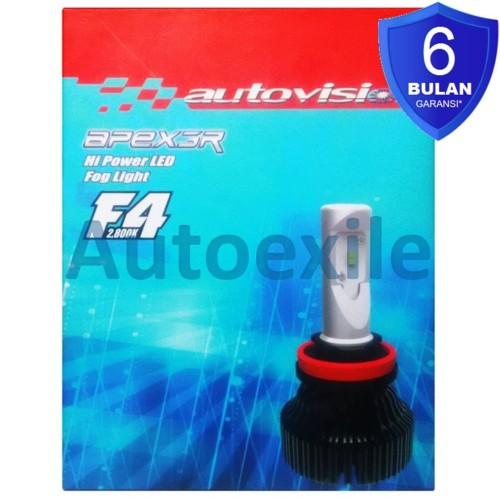 Foto Produk Autovision F4 LED H8 H9 H11 H16 15W 2800K Kuning Epistar Foglamp Mobil dari Autoexile