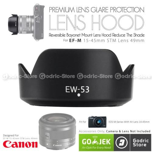 Foto Produk Lens Hood Canon EW-53 EF-M 15-45mm IS STM Lensa Kit 49mm M10 M3 M6 etc dari G-Rex