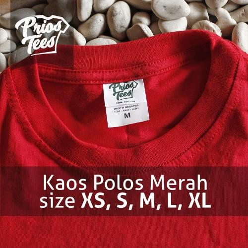 Foto Produk Kaos Polos MERAH Cotton30s MURAH! PriosTees by printkaos.com dari PriosTees
