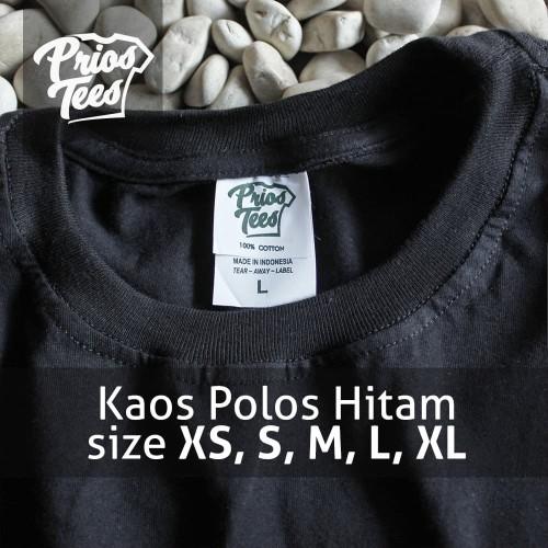 Foto Produk Kaos Polos HITAM Cotton30s MURAH! PriosTees by printkaos.com - Lengan Pendek dari PriosTees
