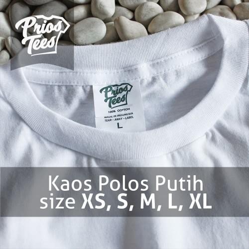 Foto Produk Kaos Polos PUTIH Cotton Combed 30s MURAH! by printkaos.com dari PriosTees