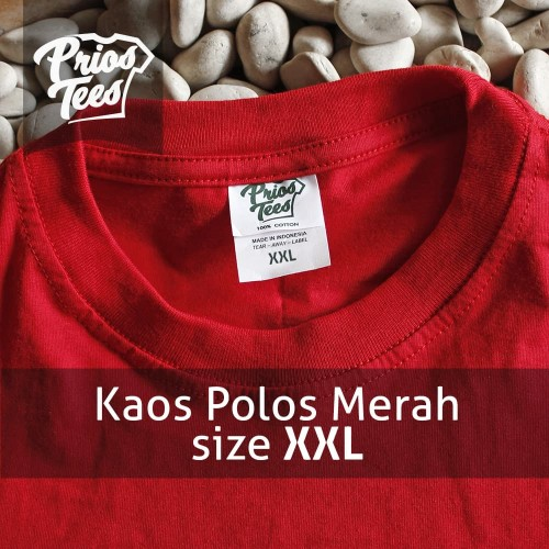 Foto Produk Kaos Polos MERAH size XXL Cotton30s MURAH! PriosTees by printkaos.com dari PriosTees