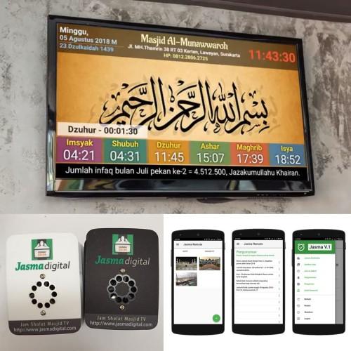 Foto Produk Jam Masjid TV LED / Jadwal Sholat Iqomah dengan android wifi dari Jasma Digital