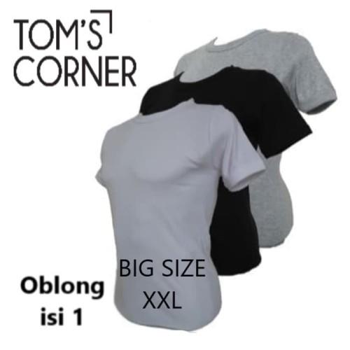 Foto Produk Kaos dalam pria BIG SIZE | kaos oblong JUMBO Agree |rider gtman gt man - Abu O neck, AGREE XXL dari TomsCorner