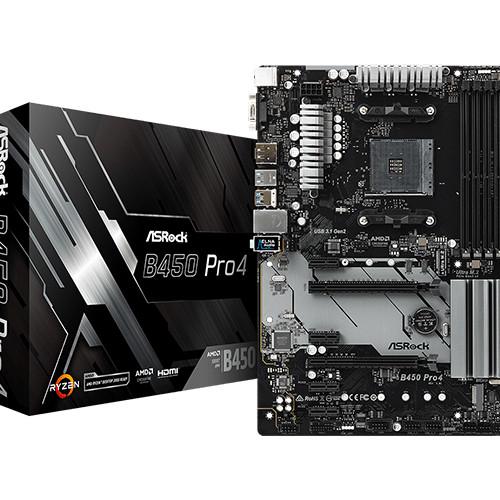 Foto Produk MATHEBOARD ASROCK B450 PRO4 AMD AM4 SOCKET DDR4 dari Yoestore