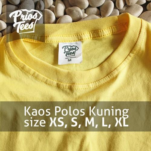 Foto Produk Kaos Polos KUNING Cotton30s MURAH! PriosTees by printkaos.com dari PriosTees
