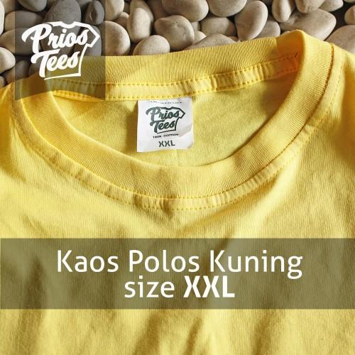 Foto Produk Kaos Polos KUNING size XXL Cotton30s MURAH! PriosTees by printkaos.com dari PriosTees