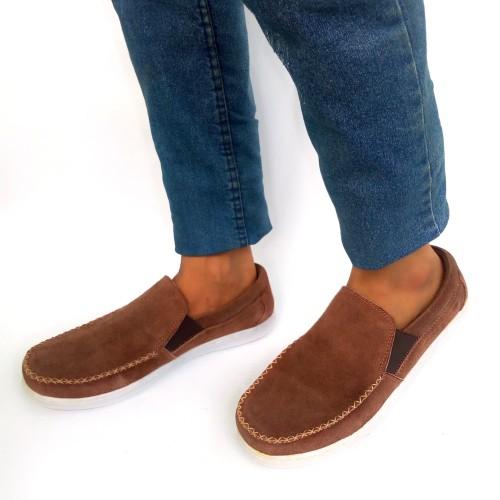 Foto Produk Sepatu casual pria kulit asli Rasheda 016 - Cokelat, 38 dari Rasheda Store