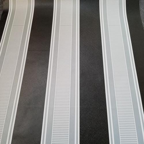Foto Produk S31 Wallpaper Sticker Stripe Hitam Putih uk. 45cm x 10m dari Elyzavita San